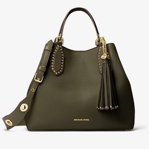 7d278cc4a8d8 Michael Kors Bags | Large Brooklyn Tote Olive | Poshmark